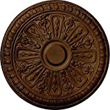 Ekena Millwork CM18RA2RZS Raymond Ceiling Medallion, Rubbed Bronze