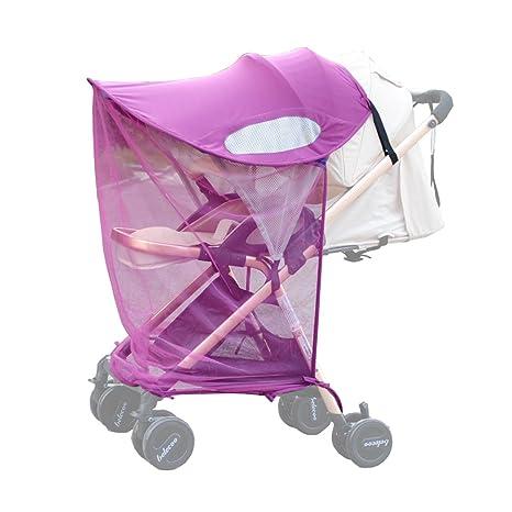 ZEEUPAI - Parasol plegable protector contra sol toldo de material lycra sombrilla universal con mosquitera para