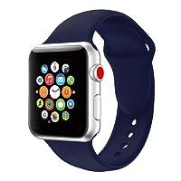 16 colori per Apple Watch cinturini 38mm/42mm,VODKER Cinturini in Silicone Morbido Cinturino/Cinturini di Ricambio Apple Watch Band/Strap/Orologio/Bracciale Apple Watch Series 3, Series 2, Series 1-blu 42mm