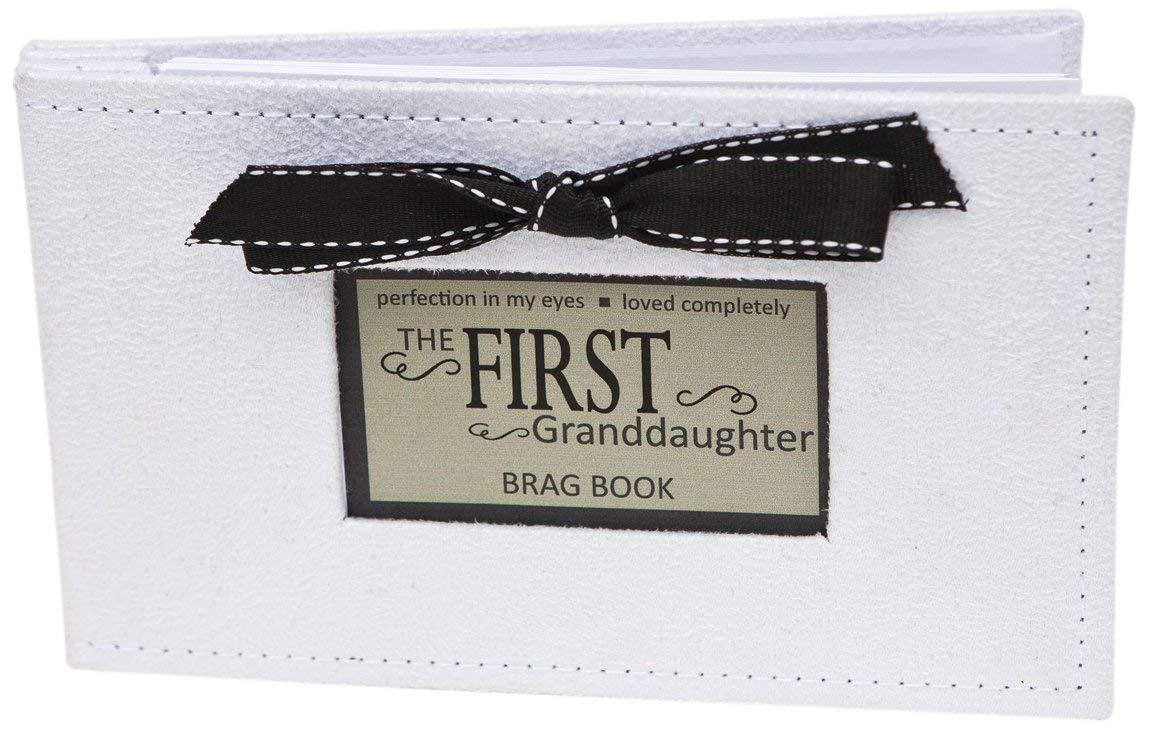 The Grandparent Gift First Granddaughter Photo Album, White, Black The Grandparent Gift Co. 1140