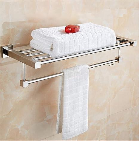 HHXWU Toallero de Toalla de baño de Acero Inoxidable Tipo Cuadrado Tubo de baño, toallero