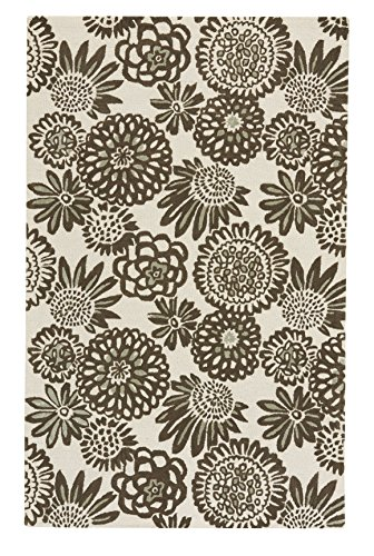 - Capel Rugs 9199RS08001000700 Genevieve Gorder Pompon Area Rug 8' x 10' Cocoa