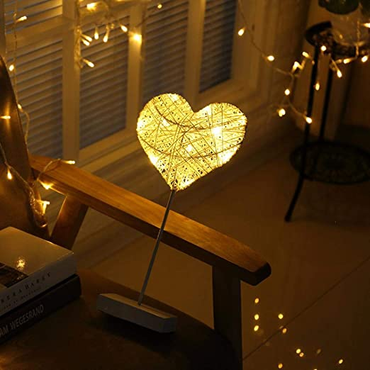FLYWS Mesa lámpara luz de Noche Linterna-Dormitorio decoración ...