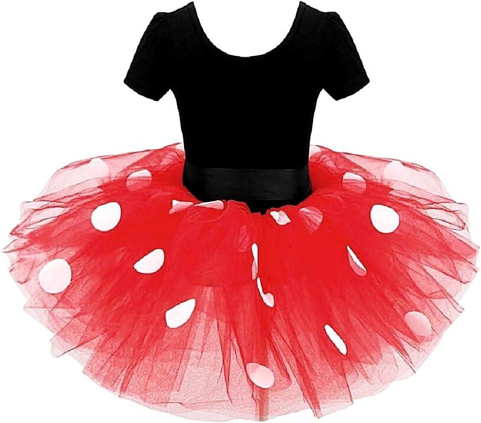 Accessori Idea regalo natale compleanno Costume Topolina Costumino Fuxia Body Cerchietto Minnie Taglia 90-2 anni tut/ù Abito Carnevale Bambina tulle Halloween