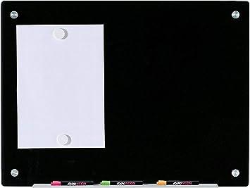Pizarra Negro Magnético de Borrado en Seco de Vidrio - 80 cm ...