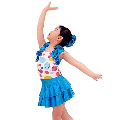 d4c331940 Amazon.com  MiDee Ballet Dress Dance Costume 2 Pieces Tank Top Polka ...
