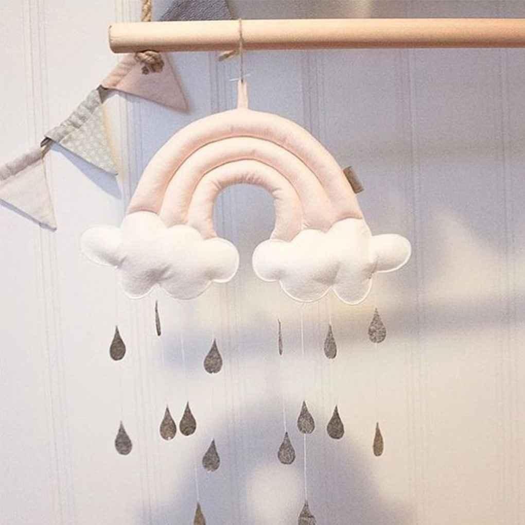 Mengonee Nube del arco iris de la gota de agua reci/én nacido pared Juguetes Cuna Cuna Carpa colgante colgantes de habitaciones juguete infantil apoyos de la foto del ornamento