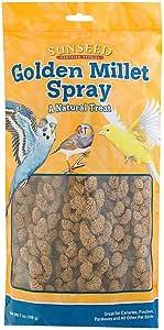 Sun Seed Company Bss10941 Small Bird Millet Spray Treats, 4-Ounce