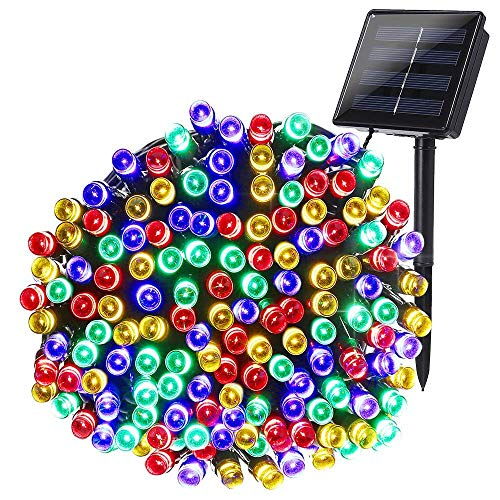 Solar String Lights 72ft 200 LED 8 Modes Solar Powered Christmas Lights Waterproof Decorative Fairy String Lights for Garden, Patio, Home, Wedding, Party, Christmas(Multi-Color)
