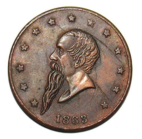1863 Gustavus Lindenmueller ODEON New York Civil War Token (1863 Civil War Token)