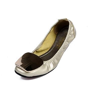 SHINIK 2018 Nuevos Zapatos de mujer de microfibra Primavera Otoño Comfort Flats Flat Heel Moda suave