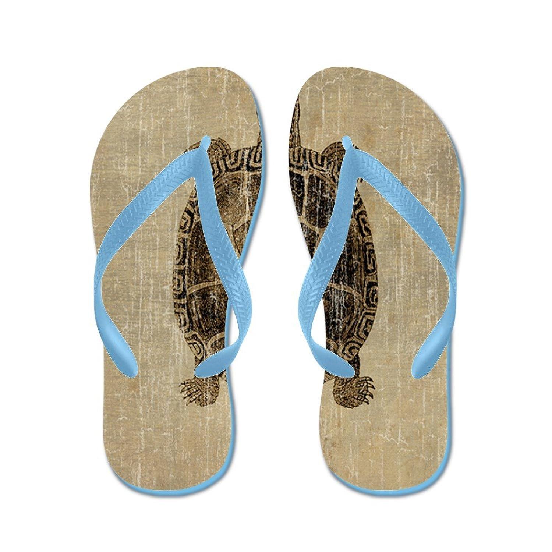 CafePress - Vintage Turtle - Flip Flops, Funny Thong Sandals, Beach Sandals