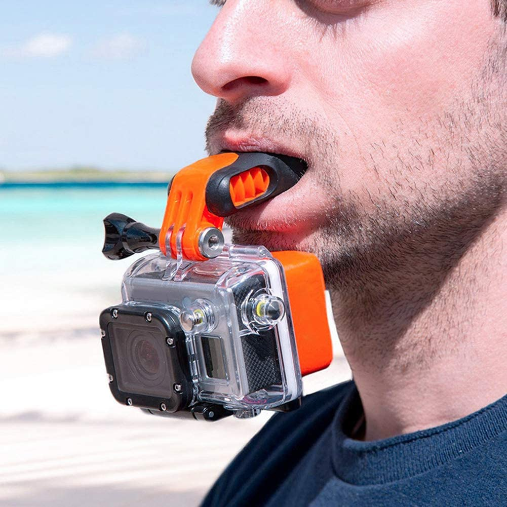 Erthree Mouth Mount for Gopro Hero 7 6 5,Mouth Mount,Braces Connector Mouthpiece for Skating Surf