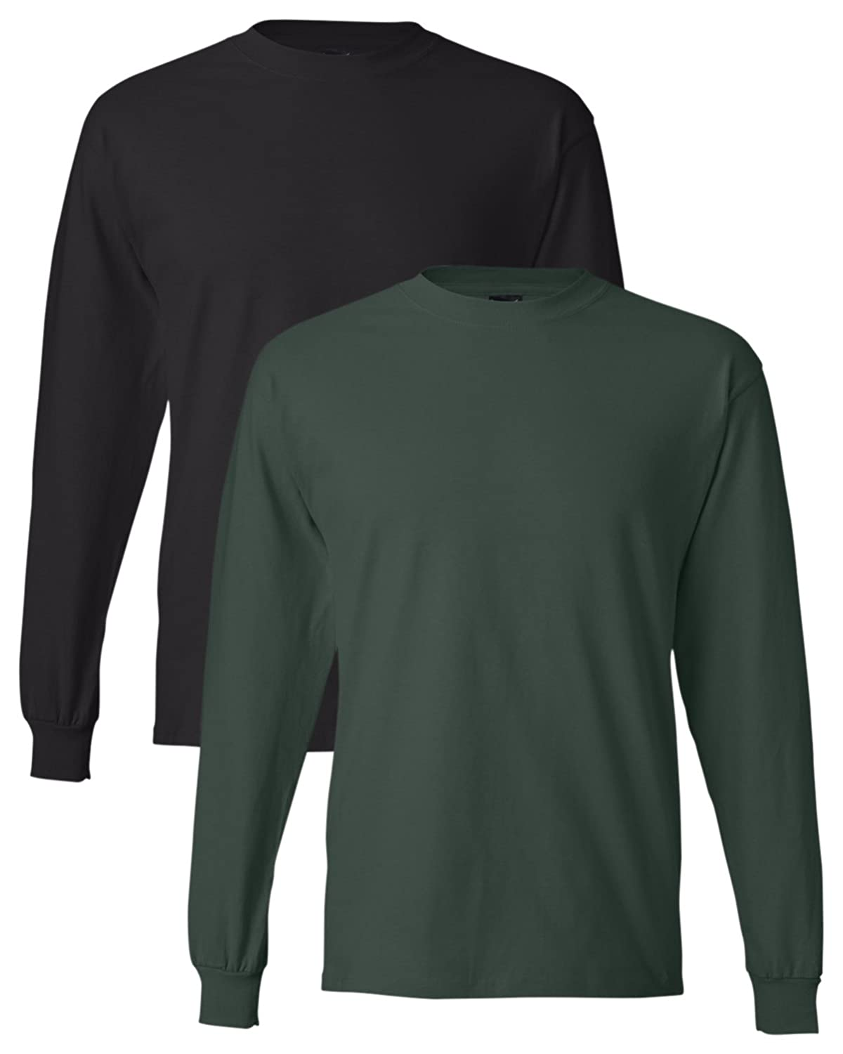 14807cd7 Hanes Men's Long-Sleeve Beefy-T Shirt (Pack of 2) at Amazon Men's Clothing  store:
