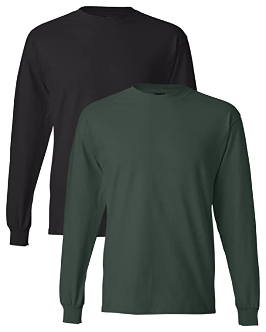 3b97d643 Hanes Men's Long-Sleeve Beefy-T Shirt (Pack of 2) at Amazon Men's ...