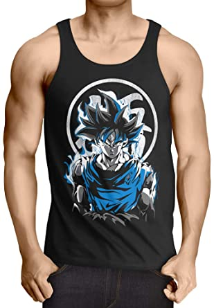 style3 Super Saiyan God Blue Camiseta de Tirantes para Hombre Tank Top Vegeta dragón: Amazon.es: Ropa y accesorios