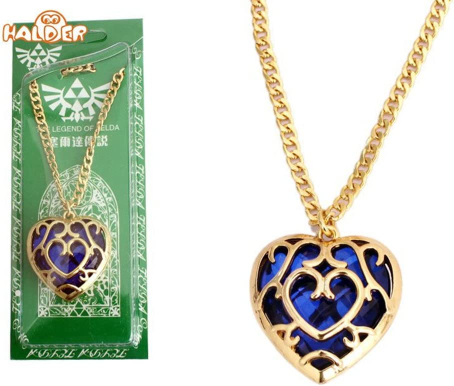 The Legend of Zelda High Quality Heart Golden Pendant Necklace Gift Daily Use