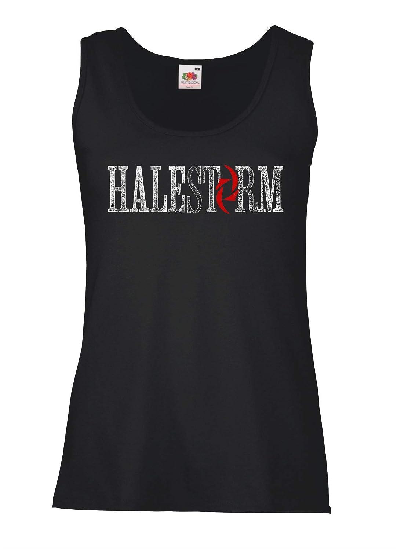 LaMAGLIERIA Tank Top Damen Halestorm Cod02-100/% Baumwolle Rock Metal Band