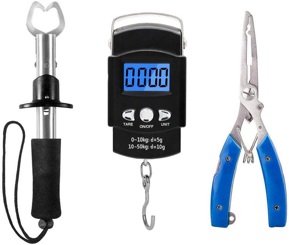 XBLACK Fishing Tool Kit Fishing Pliers Fish Gripper Fishing Scale Fish Grip Tools Set Saltwater Resistant Fishing Gear (Simple Set) : Sports & Outdoors