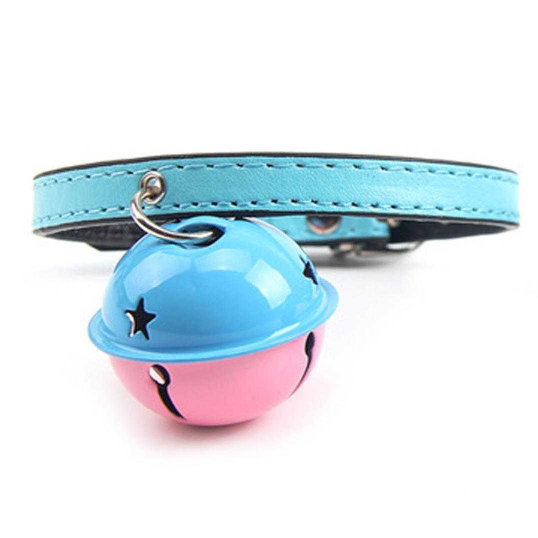 Pet collar,Pikolai Adjustable Dog Cat Pet Cute Tie With Bell Puppy Kitten Necktie Collar New (Light Blue)