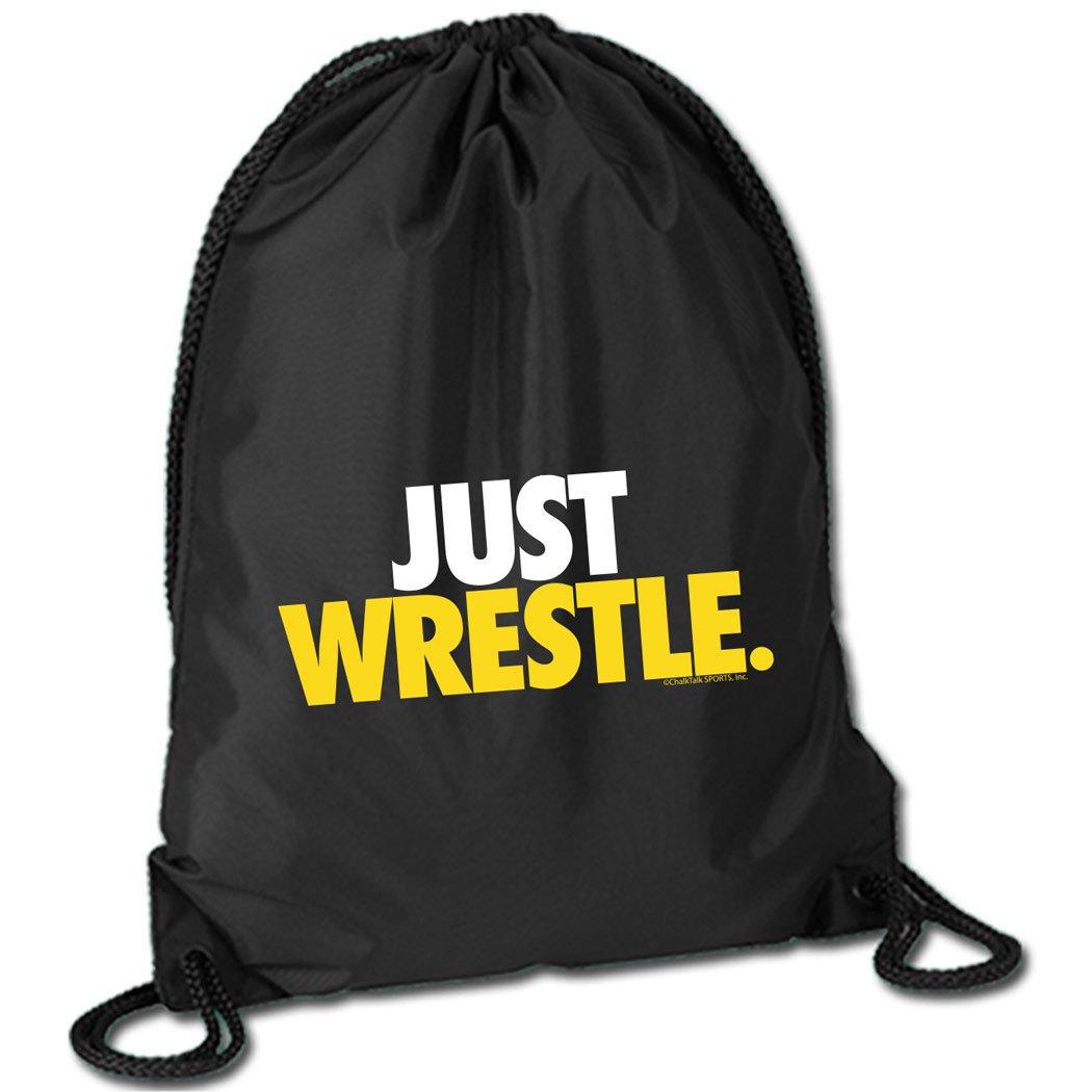 Just Wrestle Cinch Sack | Wrestling Bags by ChalkTalk SPORTS| Black by ChalkTalkSPORTS