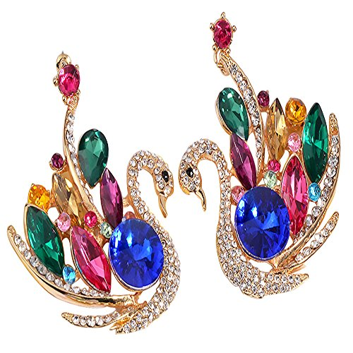 SEKAISORA Fashion Elegant Fine Diamond Necklace Temperament With Swan Set jewelry Set Chain by SEKAISORA (Image #6)