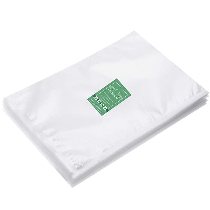 8×12 Inch Vacuum Sealer Bags,Pre-Cut Design Bags for Vacuum Sealer Heat Seal Bag Boilsafe Freezable Resizable BPA Free(50Pcs)