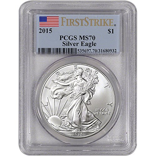 2015 American Silver Eagle $1 MS70 First Strike PCGS