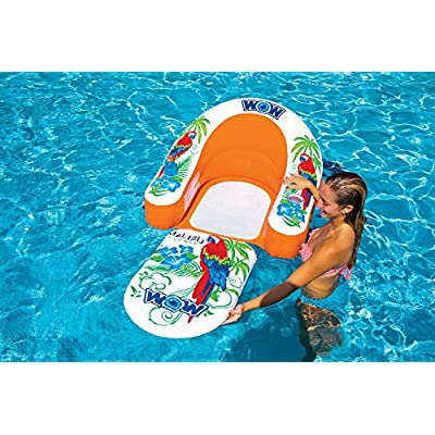 WOW World of Watersports, 14-2070, Malibu Lounge Chair, Inflatable, Floating, Ergonomic Head and Foot Rest, 1 Person: Sports & Outdoors