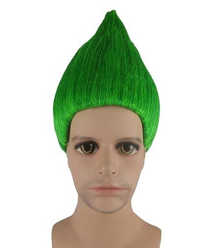 Trols película traje de Cosplay peluca verde anhm-089uk adulto