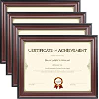 Memory Island 8.5x11 Document Frames,Real Glass Fronts, 4 Pack Certificate Frames for Wall Or Tabletop Display,Diploma…