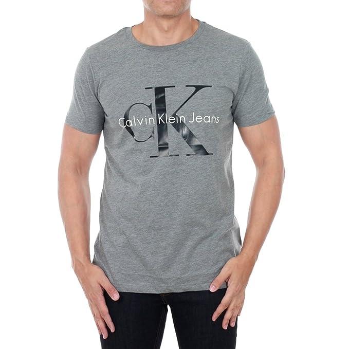Camiseta Calvin Klein Jeans Hombre XL Gris claro J3IJ302251-965 - MID GREY HEATHER