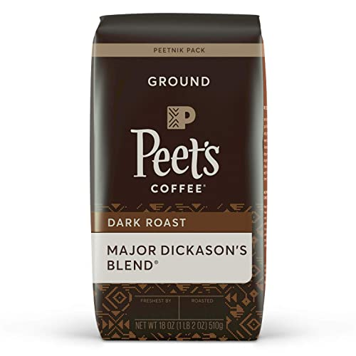 Peet's Coffee Dark Roast Major Dickason's Blend, 18 Oz