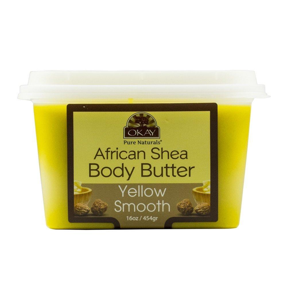 OKAY Shea butter yellow smooth deep moisturizing 16oz Xtreme Beauty International 810367019290