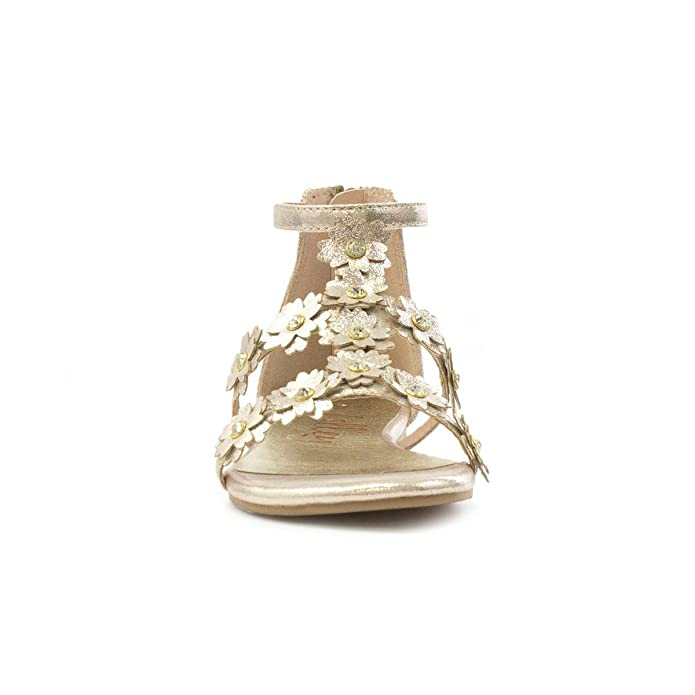 1cef56848b7b Lilley Girls Gold Shimmer Sandal with Flowers  Amazon.co.uk  Shoes   Bags