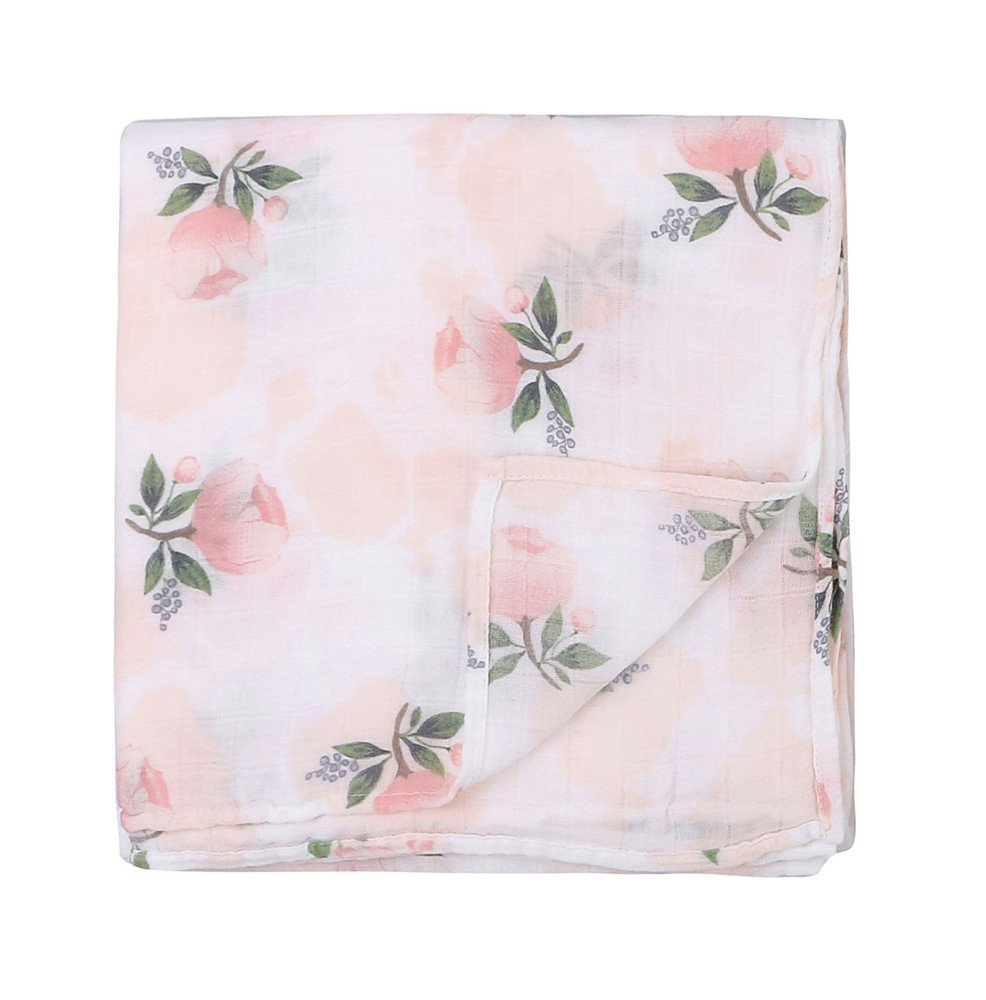 """Large Muslin Cloths Baby Swaddle Blanket 2 PackFloral /& Flamingo Print/"""" Baby Blanket Girls Floral /& Flamingo Perfect Baby Shower Gifts Bamboo Muslin Baby Blanket"""