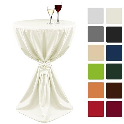 Beautissu Fodera per tavoli alti Giulia Ø70x145 cm - ecrú - pratico ...