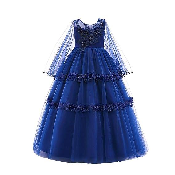 TIFIY Mädchen Kleid Spitze Bowknot Prinzessin Hochzeitskleid Performance Formale Tutu Kleid Party Brautjungfer Kleid
