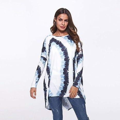 Good dress Camisa a Rayas de Gran Tamaño Larga Y Suelta Hembra Camiseta de Manga Larga Y Gran Tamaño Mujer, XXXL: Amazon.es: Deportes y aire libre