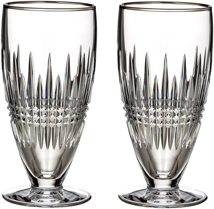 Waterford Crystal Lismore Diamond Platinum Iced Beverage Glass (Set of 2)