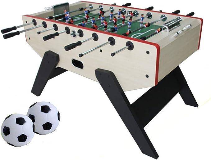 MJ-Games Mesa de futbolín Mesa de fútbol Profesional de Mesa Juego de fútbol con Dos Pelotas y Marcador de anotaciones para Adultos y niños: Amazon.es: Hogar