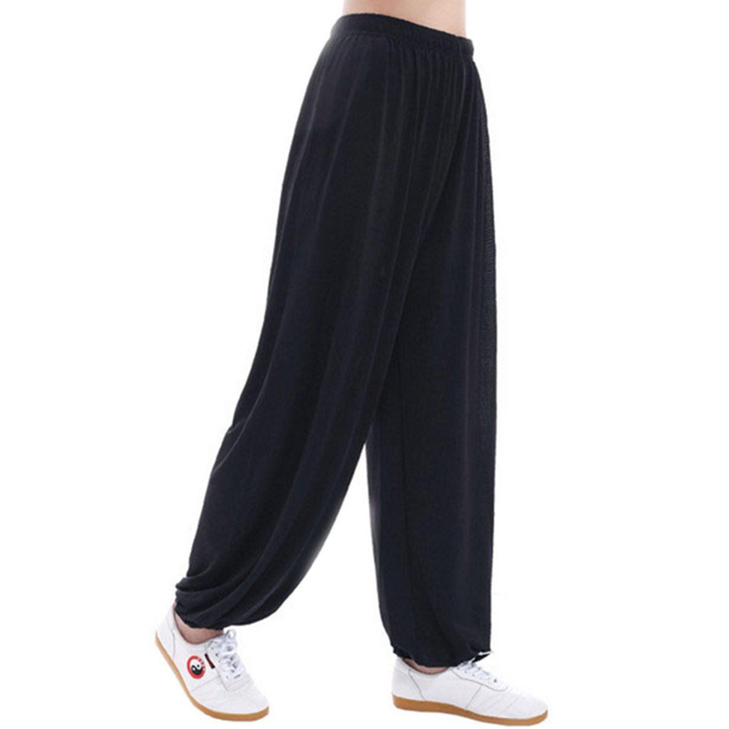 44876c6acf106 Women Plus Size Super Soft Harem Pants Modal Yoga Pants Elastic Pilates  Pants at Amazon Women s Clothing store