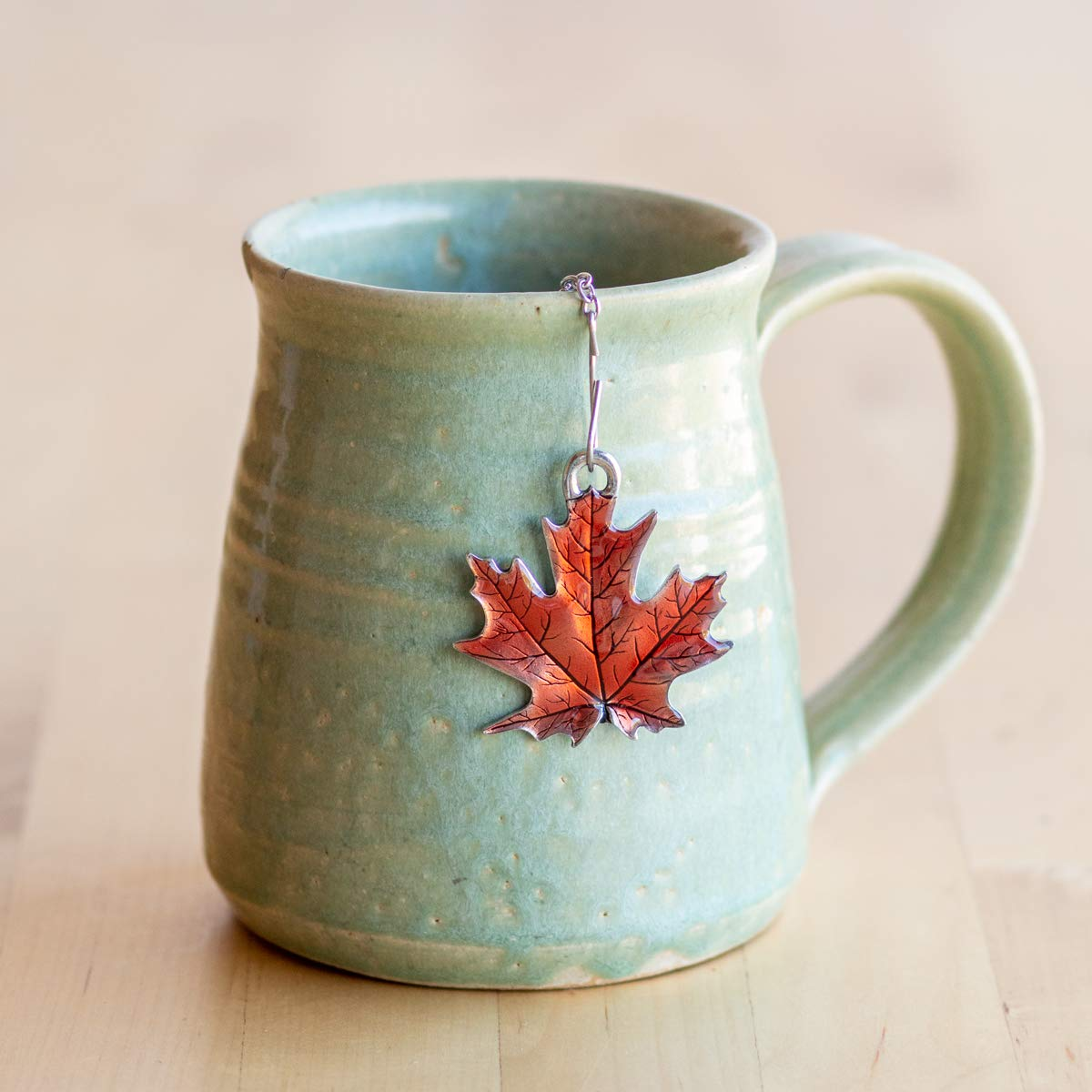 DANFORTH - Maple Leaf/Autumn Tea Infuser - Handcrafted - Made in USA - Gift Boxed