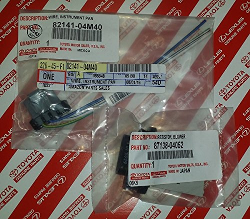 GENUINE OEM TOYOTA TACOMA 2005 - 2017 BLOWER MOTOR RESISTOR & PIGTAIL CONNECTOR (Blower Motor Resistor Toyota compare prices)