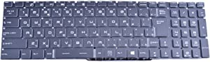 Laptop Keyboard for MSI GT72S 6QD 6QE 6QF GT72VR 6RD 6RE 7RD 7RE GL72 6QE 6QF GP72 6QE 6QF Japanese JP Without Frame Crystal Keycap & Backlit
