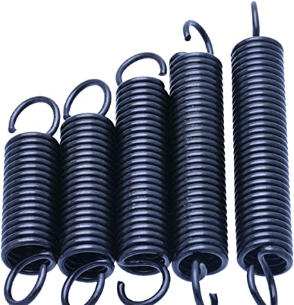 5pcs Extension ressort avec crochets 1mm fil Diam/ètre petit ressorts de traction /à long 25-60mm en acier Extension Spring 1 X 10 X 30 mm