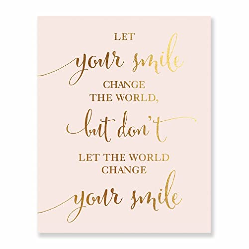 Amazoncom Home Office Classroom Wall Art Print Let Your Smile