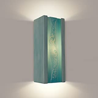 product image for A19 RE116-TC-TQ reFusion Bubbly Wall Sconce Teal Crackle and Turquoise