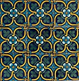 2x2 Talavera Tile Hand Painted Glazed Colorful Unique Authentic Beautiful Mexican Made DIY (100 Piece Box Set) M-12