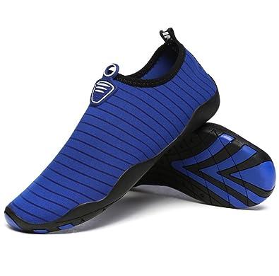 Exing Tauchen Strand Schuhe Sommer Atmungsaktive Soft-Soled Schuhe Schnorcheln Outdoor Männer und Frauen Barfuß Schwimmen Schuhe (Color : D, Größe : 46)